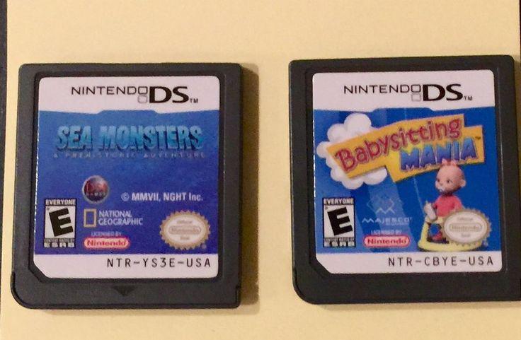 Babysitting Mania. Sea Monsters A Prehistoric Adventure. Lot of 2 Nintendo DS games. | eBay!