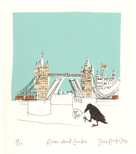 Will's Art Warehouse - Susie Brooks 'Raven About London'.