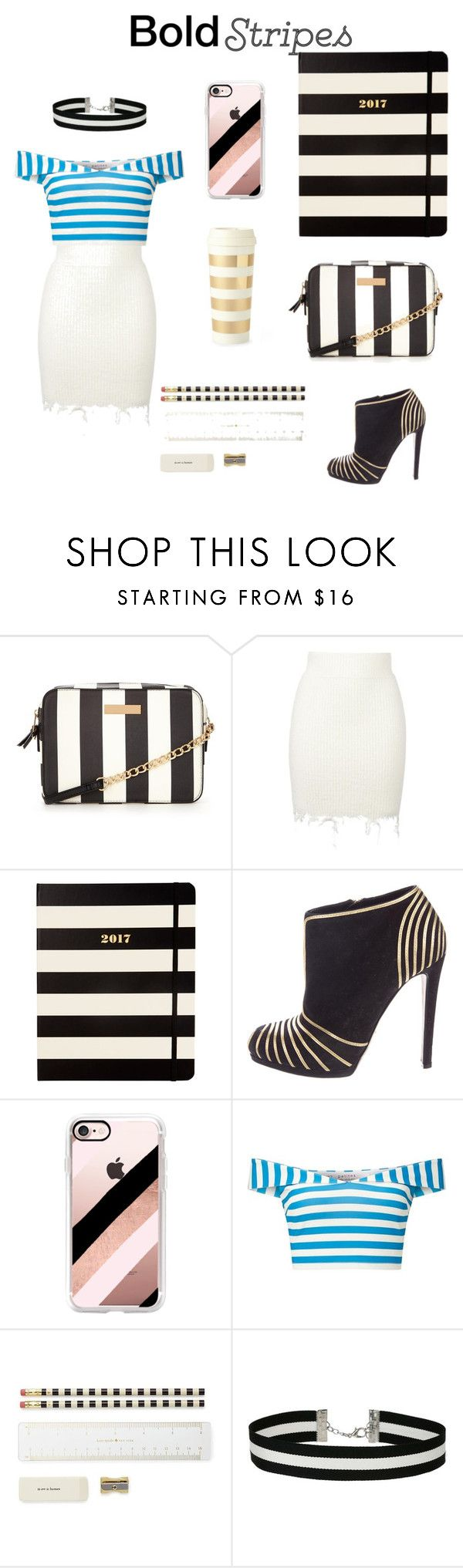 """Bold stripes makes confident"" by lydiasoong2210 ❤ liked on Polyvore featuring adidas Originals, Kate Spade, Sergio Rossi, Casetify and Miss Selfridge"
