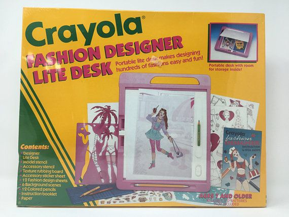 Sealed Crayola Fashion Designer Life Desk 1992 Nib With Images Fashion Design