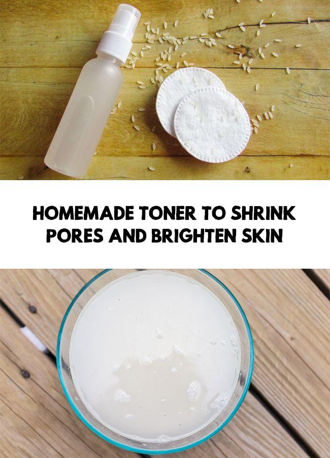 Homemade toner to shrink pores and brighten skin