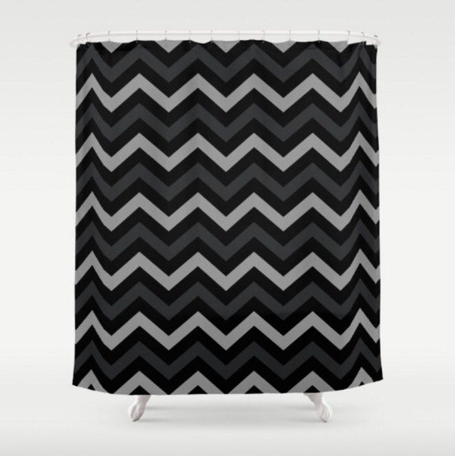 Best Grey And White Chevron Shower Curtain Photos - 3D house ...