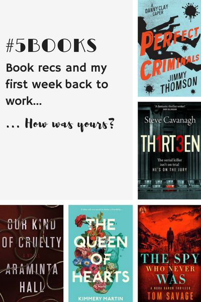 Book recs for the week ending 14 January -- obsession, thrillers and a drama teacher who became a spy -- read about them all: The Queen of Hearts, Thirteen, Our Kind of Cruelty, The Spy Who Never Was, and Perfect Crime. Read more: #5Books: Book recs and first week blues ... http://editingeverything.com/blog/2018/01/15/5books-book-recs-first-week-blues/
