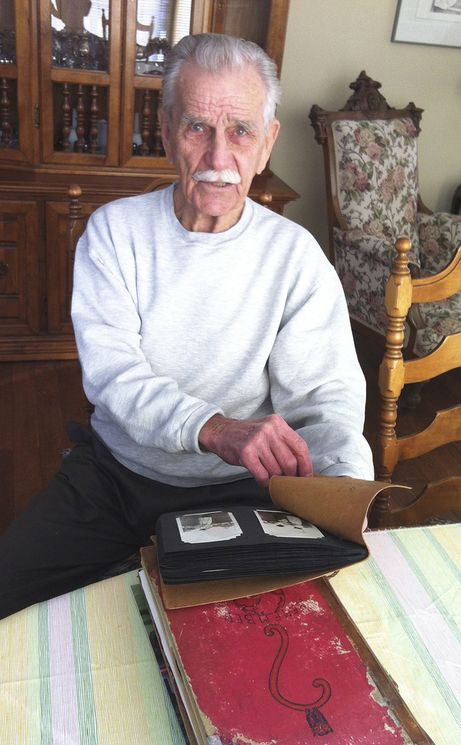 Former RCAF Hurricane fighter pilot Jim Ashworth at his home in Invermere, B.C. in February 2014.