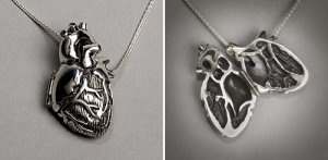 Silver Anatomical Human Heart Locket - $300 - http://www.goreydetails.net/shop/index.php?main_page=product_info&cPath=257_259&products_id=5575Heart Lockets, Nursing Nerd, Clothing, Heart Necklaces, Anatomical Correct, Silver Anatomical, Jewelry, Anatomical Heart, Heart Pendants