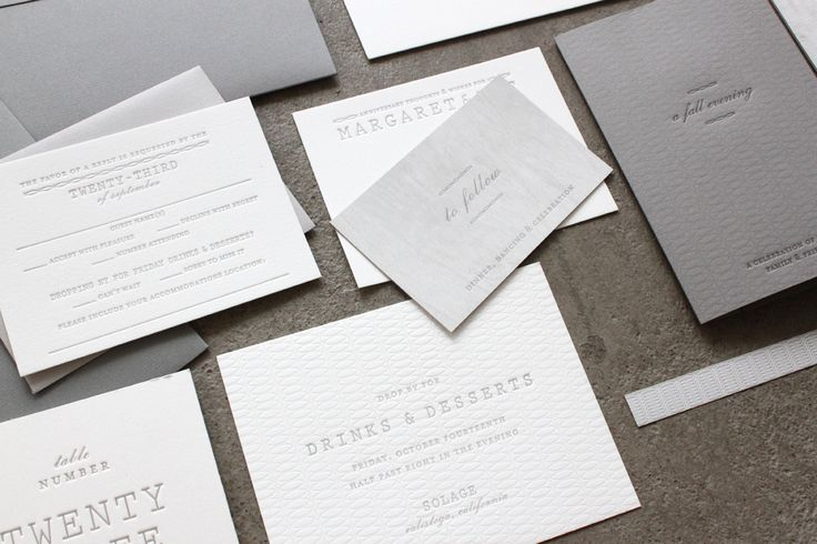 Understated Gray + White Wedding Invitations by Sideshow Press via Oh So Beautiful Paper (3)