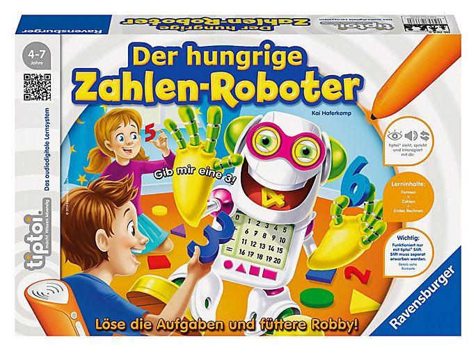 Was ist ein Dreieck? Wie sieht eine 4 aus? Was ist 5+2? Robby, der lustige Mathe-Roboter, hat großen Hunger! #spaß #kinder #tiptoi #lernen #weltbild