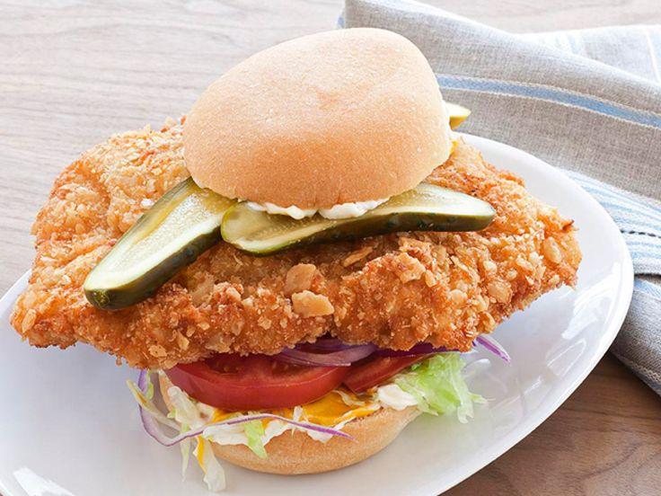 Hoosier Pork-Tenderloin Sandwich recipe from Food Network Kitchen via Food Network