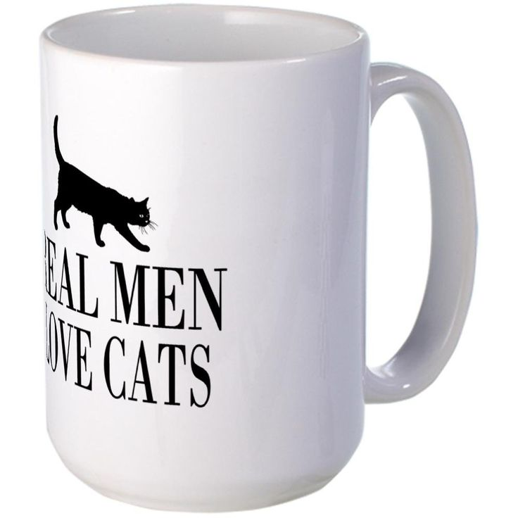 CafePress - Real men love cats Mugs - Coffee Mug, Large 15 oz. White Coffee Cup *** Startling review available here  : Coffee Mugs