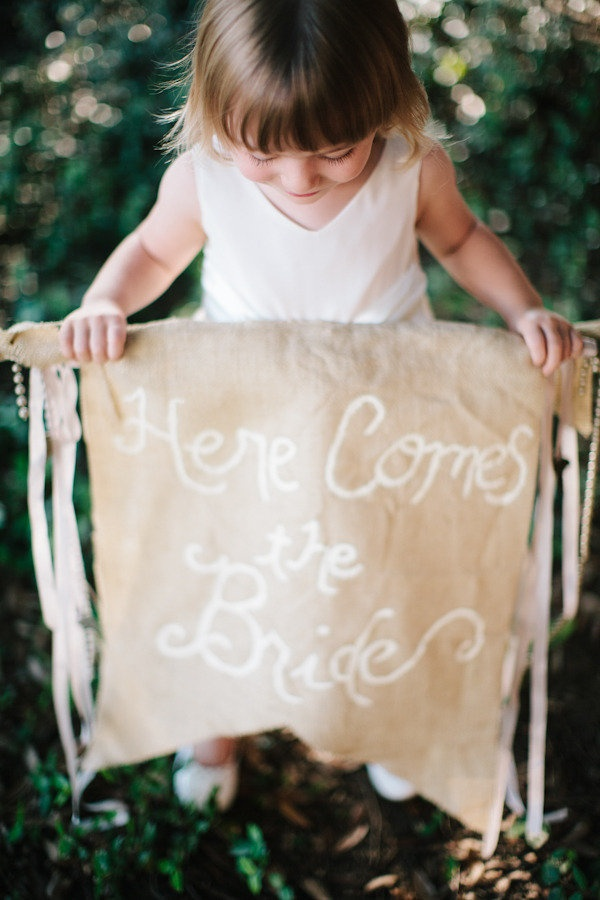 Cute flower girl announcing the bride.. Photography By / http://smittenphotography.com