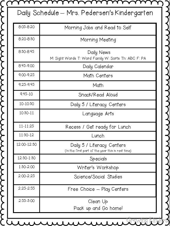 The 25+ best Kindergarten daily schedules ideas on Pinterest - rotation schedule template