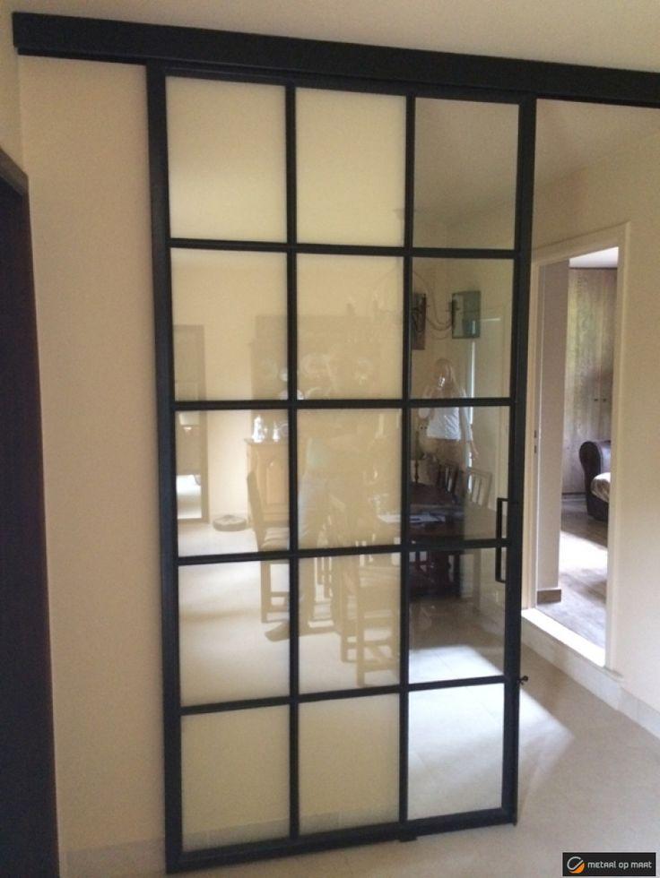 Meer dan 1000 idee n over metalen deuren op pinterest stalen deuren ijzeren deuren en - Afscheiding glas keuken woonkamer ...