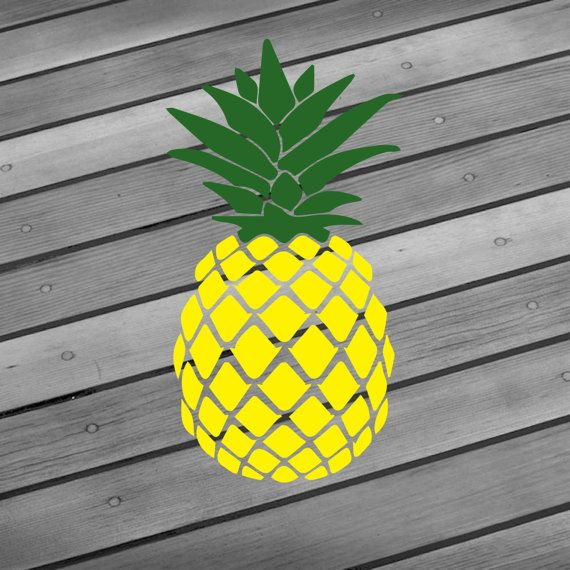 Pineapple Decal Pineapple Sticker Car Window By