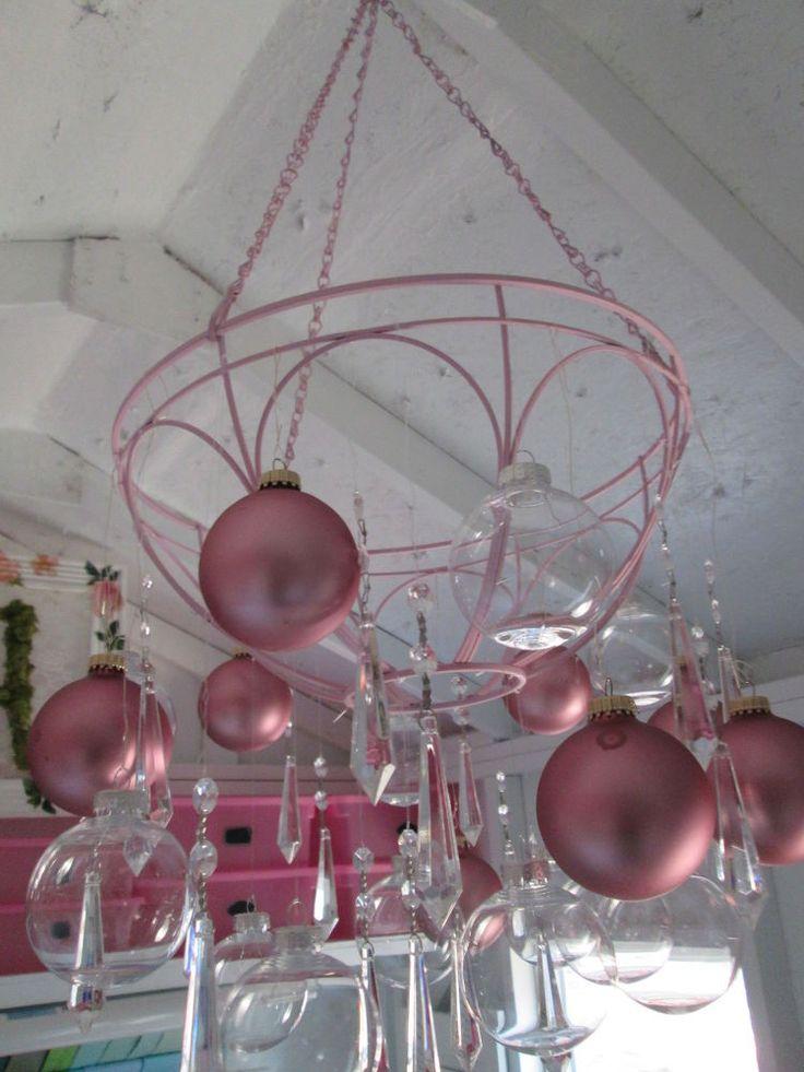 Hanging Planter Turned Craft Room Chandelier