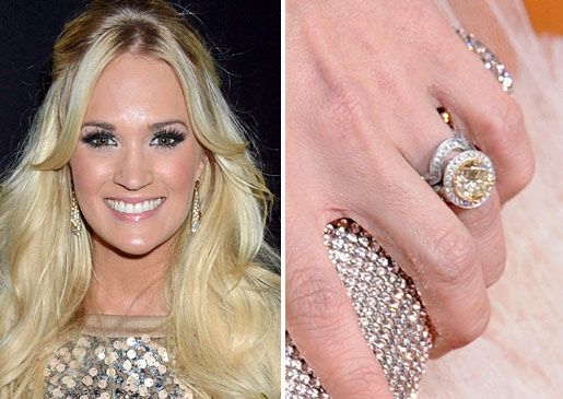 Carrie Underwood's yellow engagement ring