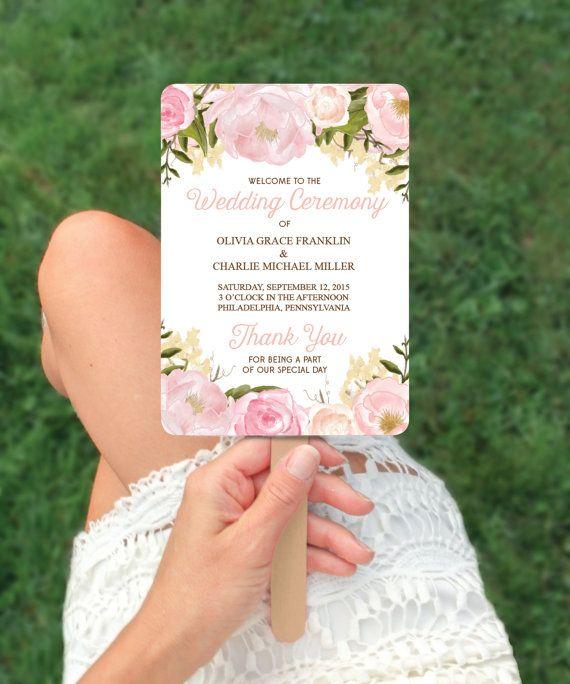 Unique Wedding Ideas - Wedding Fan Program - Wedding Ideas on a Budget by CreativeUnionDesign