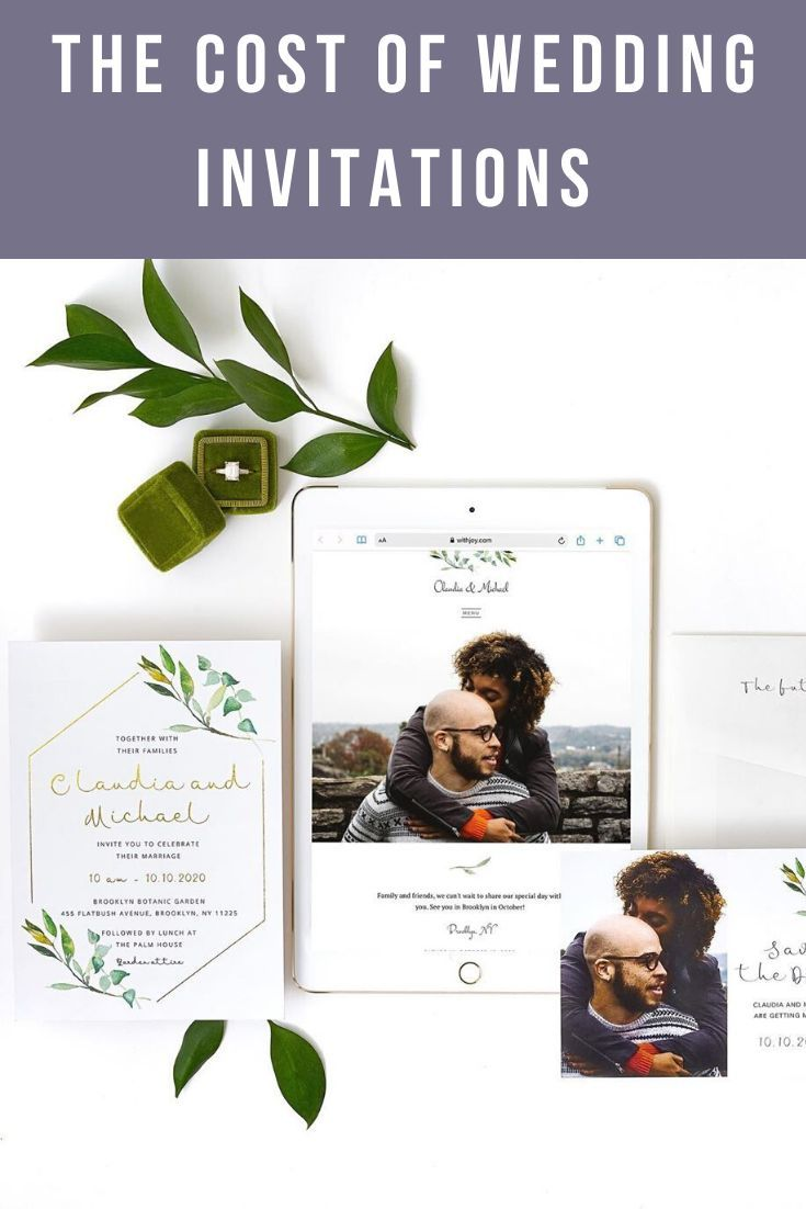 How Much Do Wedding Invitations Cost In 2019 Joy Wedding Invitations Wedding Planning Websites Wedding Costs