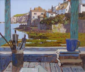 Mike Hall original 'View of Staithes'