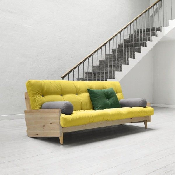 Rozkládací sofa Indie, pistacio/clear | Bonami
