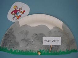 Mountain climber craft for kids
