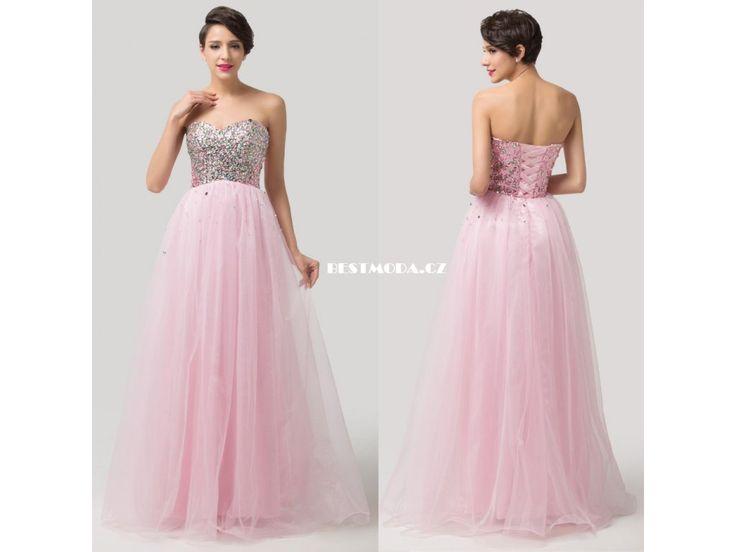 Prom dress with crystals IN STOCK, we ship worldwide, nadýchané plesové šaty SKLADEM, možnost osobní zkoušky v Praze na Národní