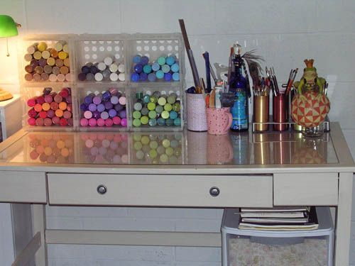 great storage idea - cheap and easy... Craft Paint Storage Idea
