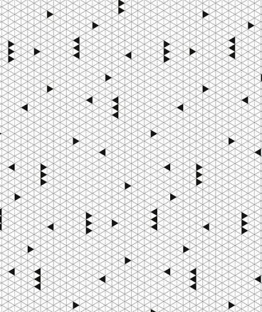Papier peint géométrique noir et blanc