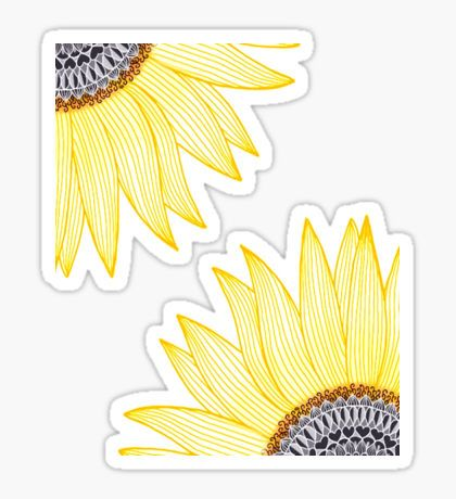 Golden Mandala Sunflower !! Sticker
