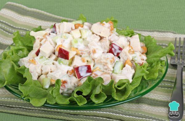 Receta de Ensalada de pollo y manzana con mayonesa