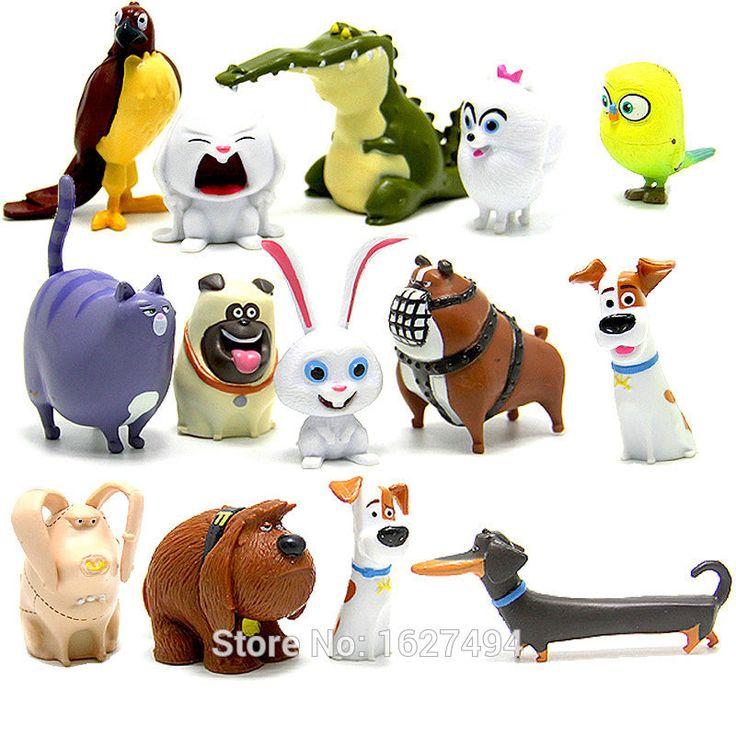 14pcs The Secret Life of Pets Mel Pugs Max Duke Gidget Chloe Sweetpea Miniatures Statue PVC Action Figures Figurines Kids Toys