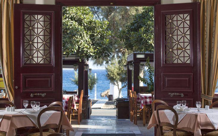 Veggera Restaurant in Santorini, Perissa Beach