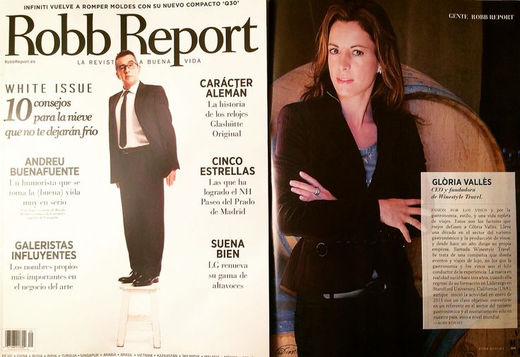 Magazine #RobbReport is out today in #spain, and our CEO & Founder @gLo_valles has been featured in it. Thank you!