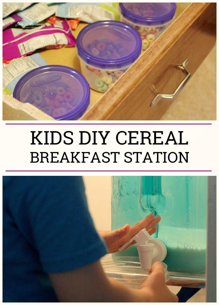 Make Summer breakfasts easy - set up a quick DIY cereal breakfast station!