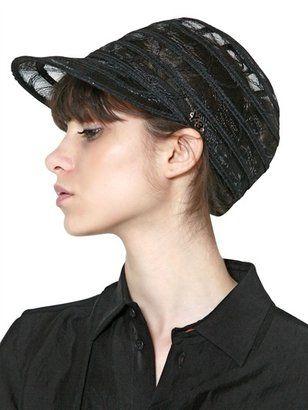 Striped Net Hat
