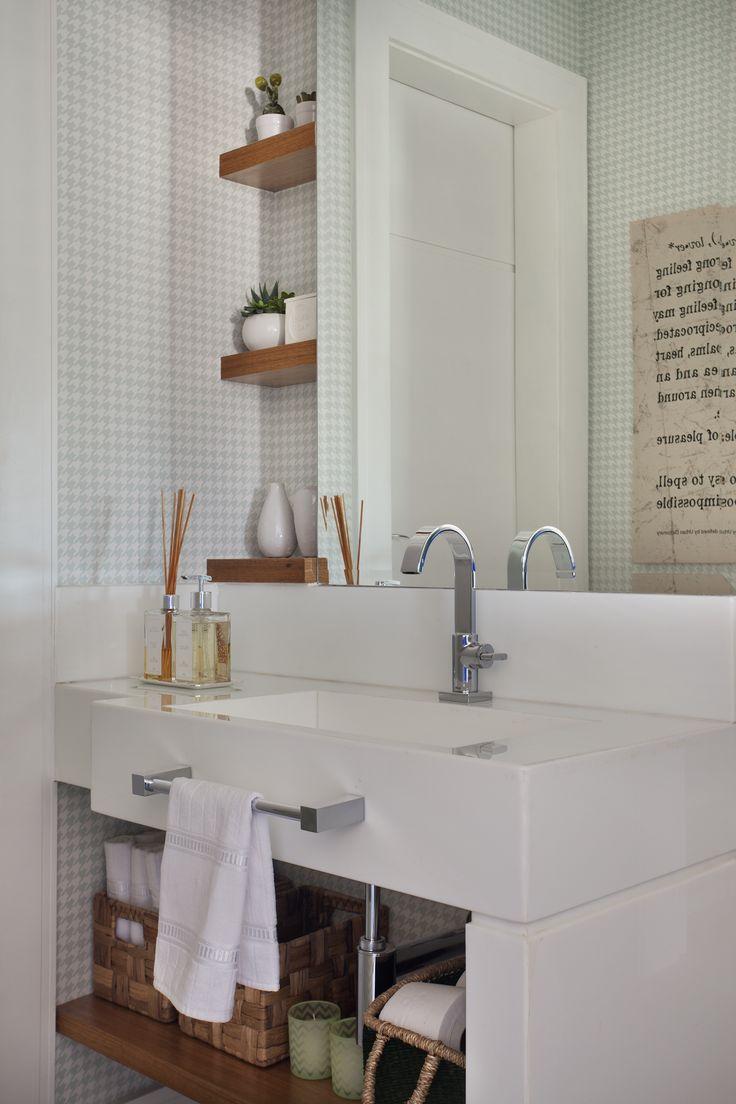 #Bathroom by Mariana Camara arquitetura #bluemood #bluedecor #decor #livingroom #blue  #decor #decoration #livingroom #architecture #interni #interiordesign #project #design #decoration #brazilianinterior #braziliandesign #washingroom