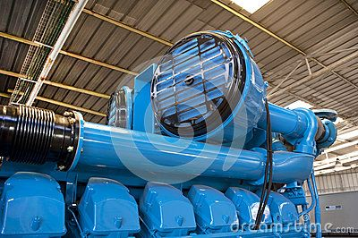 Air cooling system of a big industrial generator