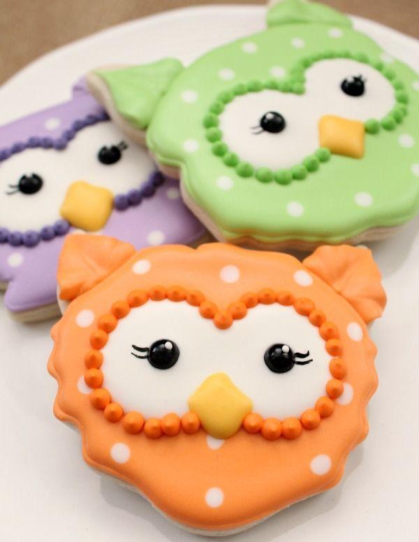 sweet sugarbelle - halloween - owl cookies (tutorial)