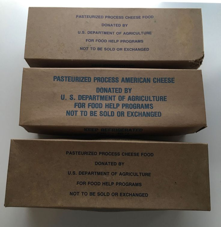 3 VTG US Dept Agriculture American Government Cheese Box Containers Velveeta