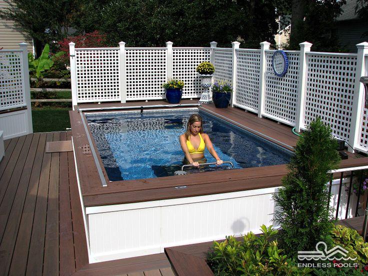 Swim Spa Deck Designs. Great Spa Pool Deck Designs Above ...