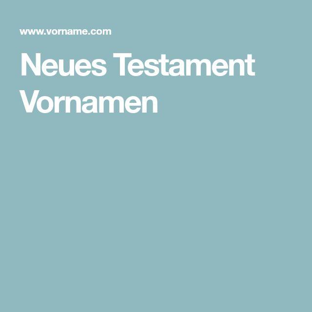 Neues Testament Vornamen