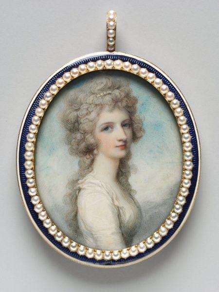 Richard Cosway, Portrait of Mary Frances Swinburne, c.1786
