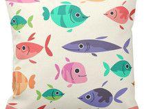 Kissen Kinder für Kinder bunte Fische