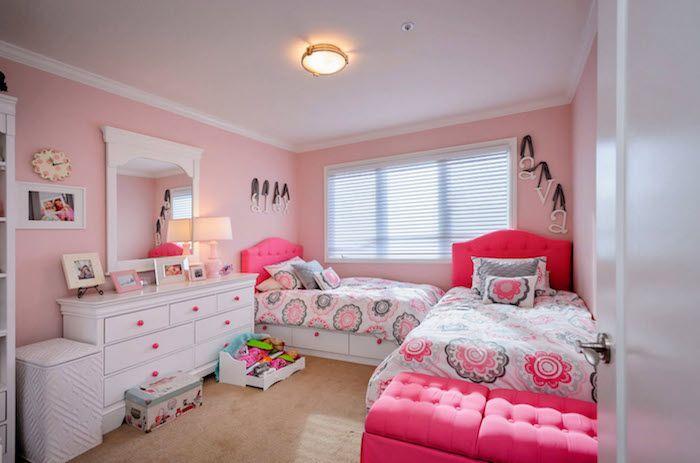 1001 Ideen Fur Jugendzimmer Madchen Einrichtung Und Deko Gemeinsames Schlafzimmer Gemeinsame Kinderzimmer Schlafzimmer Madchen