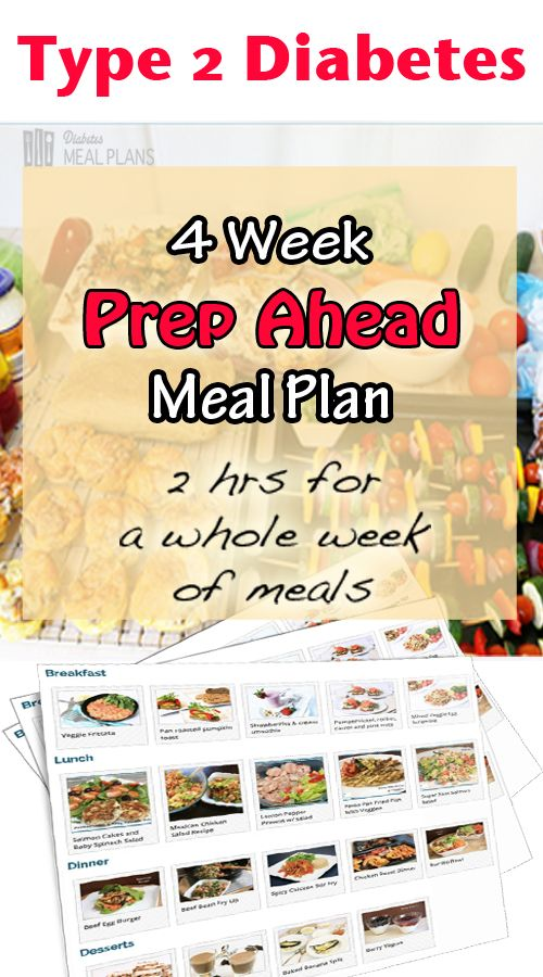 4 week 'Prep Ahead' Ready-Made meal plan - make your low carb diabetic eating plan easy with this nutritionist designed easy tasty meal plan.