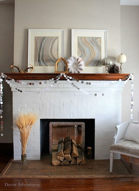 Go Simple This Holiday, With A Minimal And Modern Mantel Design For Simple  Holiday Decor