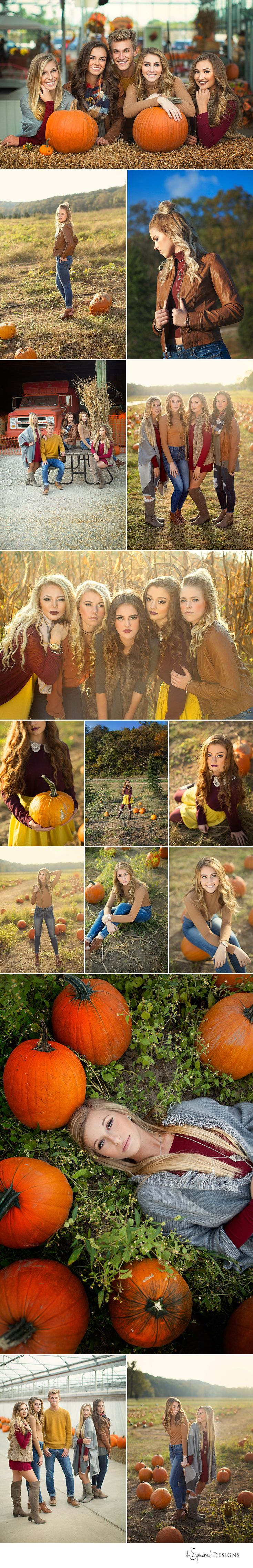 d-Squared Designs St. Louis, MO Senior Photography. Fall senior team idea. Senior team inspiration. Senior theme. Pumpkin patch. Fall ideas. Senior posing.
