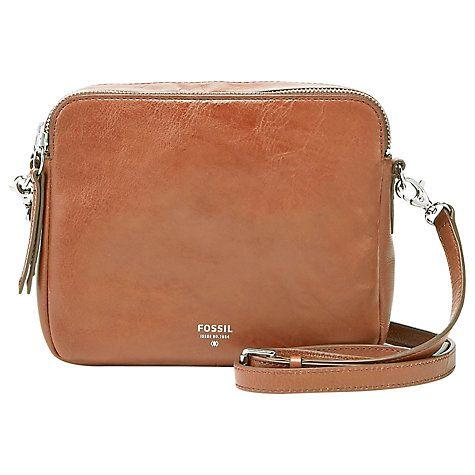 Buy Fossil Sydney Cross Body Leather Bag Online at johnlewis.com