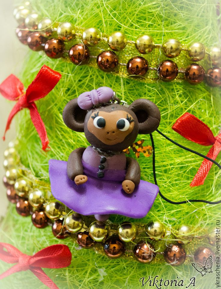 """Купить Брелки """"Веселые обезьянки"""" - коричневый, Новый Год, год обезьяны, новый год 2016, подарки новогодние"""