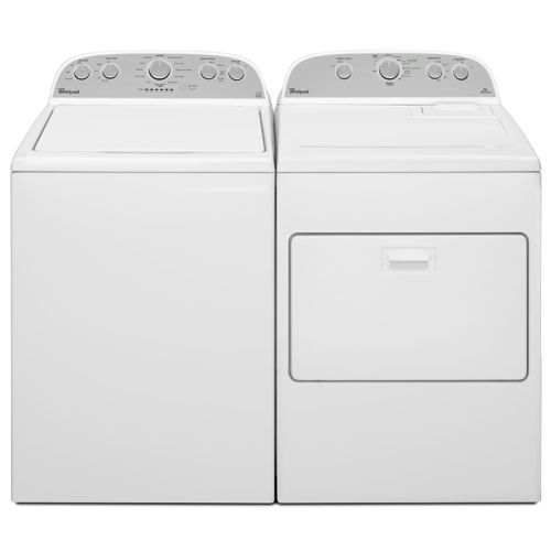 give clothes a deep clean and gentle care with this whirlpool top load washer in white