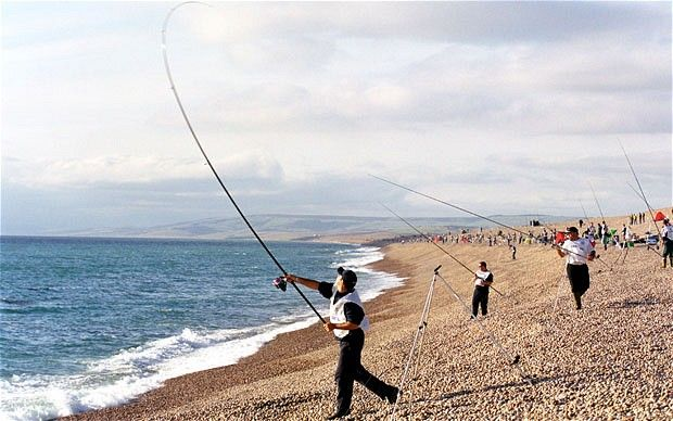 Fishing off Chesil Beach
